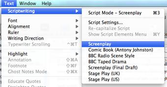 script writing modes