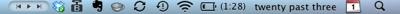 my Mac's menubar