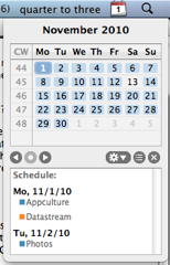 menucalendar clock for iCal lets you see your calendar at a glance!