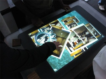 surface is a microsoft touchscreen display targeted at casinos, hotels, and entertainment venues
